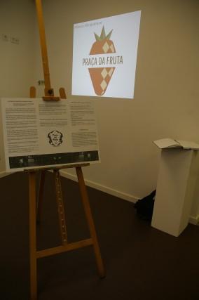 Projeção das Propostas a Concurso para o Logo da Praça da Fruta